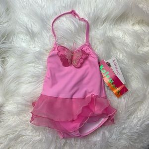 Kate Mack pink tutu butterfly swimming suit girl